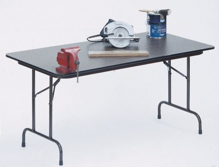 Correll Inch High Pressure Top Folding Tables   Fixed Height   Dove Gray,  As Shown