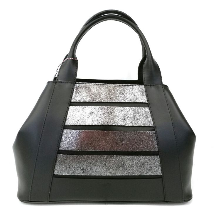 Art. M115 borsa in pelle ruga + crosta laminato