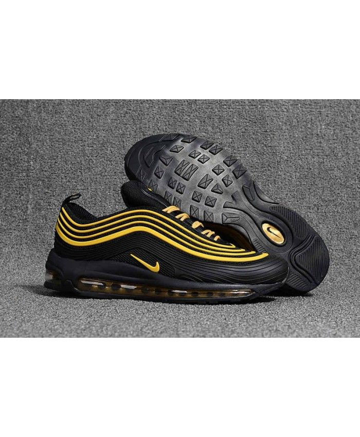 best authentic 4480c e16b0 Men s Nike Air Max 97 KPU TPU Black Yellow Shoes Hot Sale Online