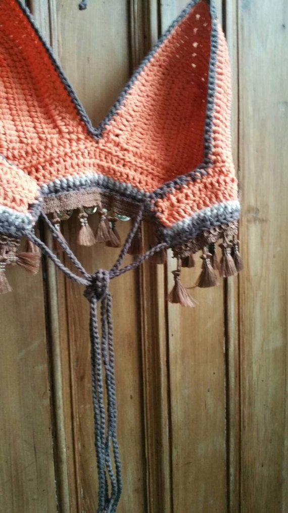 Crochet bralet bralette boho ropa fiesta popular ropa verano