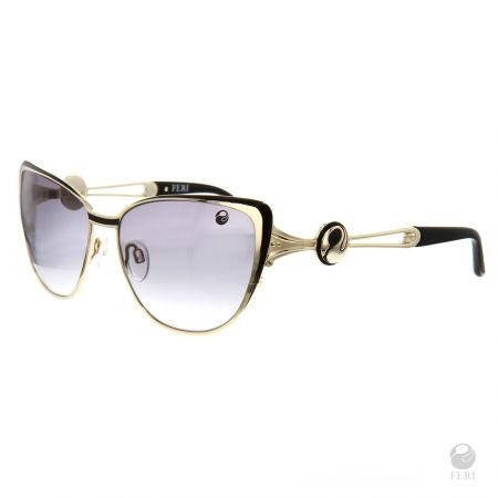 FERI Kyoto Black Shields - Black & Gold coloured steel frame - Black Lense design - Acetate and metal construction with gold tone embellishment - Estimated Specification: Frame Height 45mm, Lens Width 55mm, Bridge Width 17mm, Overall Width of Frame 130mm - Lenses are UV 400 and provide protection against harmful UV rays - Acetate is a hypo allergenic plastic - Acetate is used for its shine, color depth and durability  www.gwtcorp.com/ghem or email fashionforghem.com for big discount