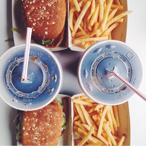 Burger and fries please