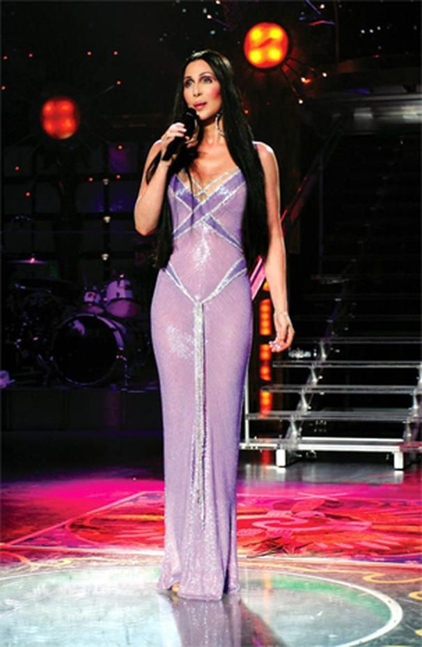 Cher performs at the MGM Grand in Las Vegas for a live HBO special, Aug. 29, 1999.