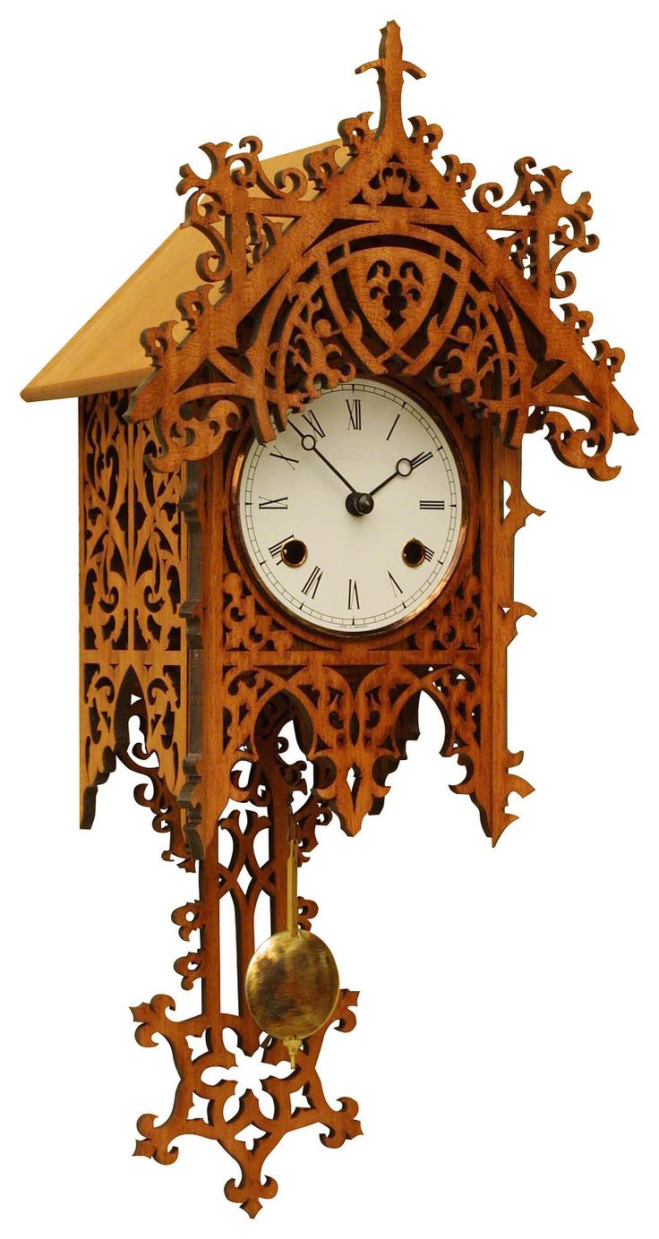 Antique Black Forest Clocks Antique replica clock 8-day-movement 47cm by Rombach & Haas