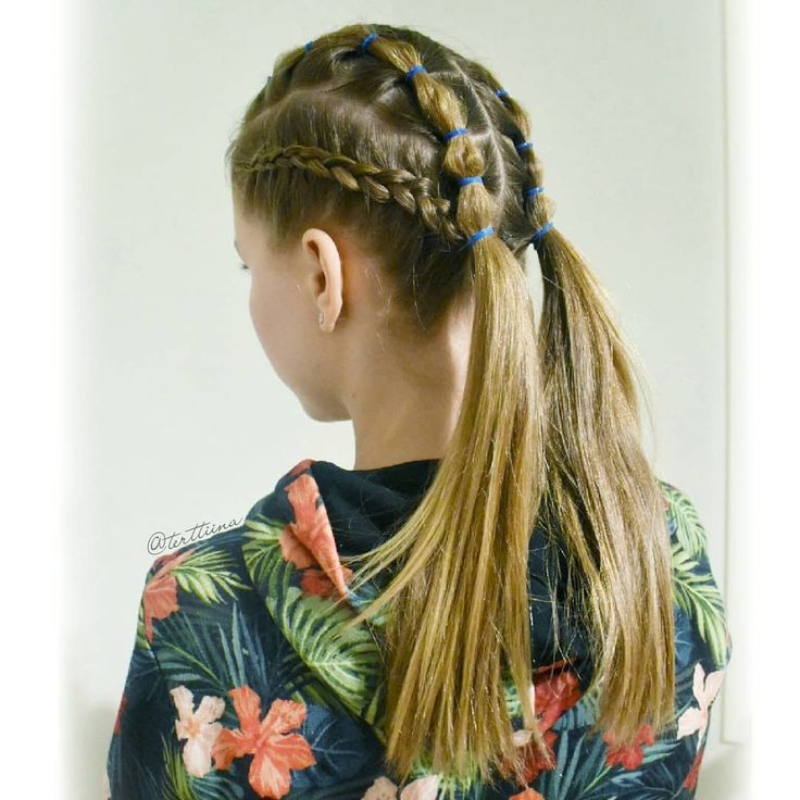 Braids & Hair by @terttiina Instagram: Dutch braids and bubble braids into pigtails!