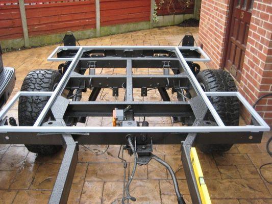 how to build a trailer frame