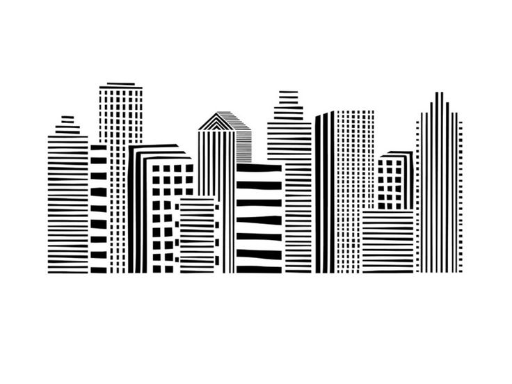 The Linear Cityscape Wall Art Print by Daniela Butunoi for Minted adds interest above a makeshift desk space.