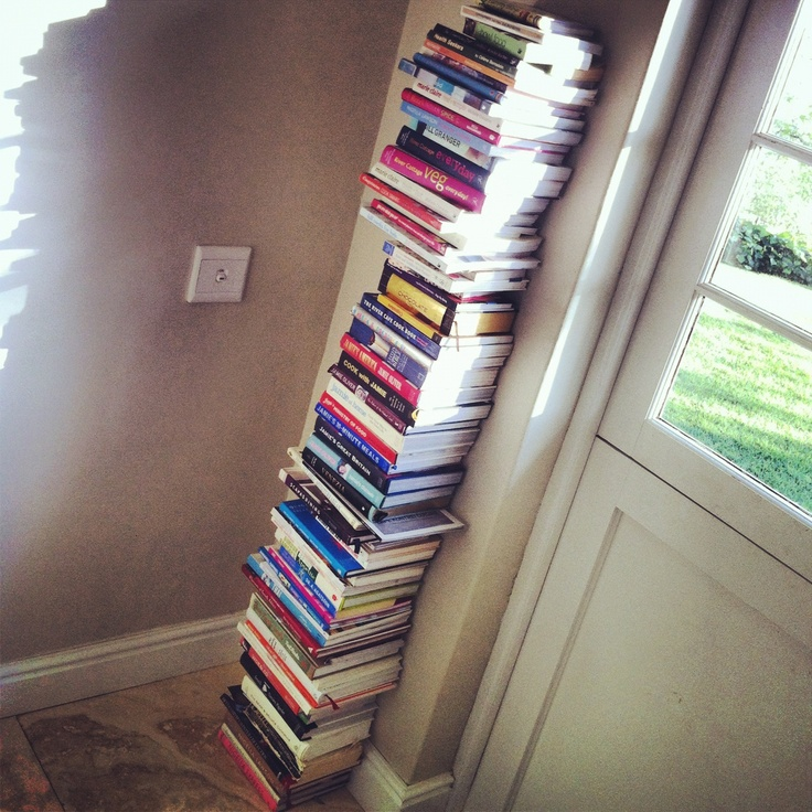 My wife's obsessive compulsive cookbook collection. At least we eat well.