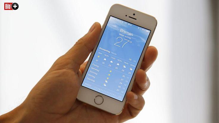 ENTHÜLLT! Darum ist die Wetter-App des iPhone so ungenau … und warum die Wetter-Vorhersagen auf dem Apple-Smartphone mit der Einführung der neuen iPhone-Software iOS 8 im Herbst viel genauer werden