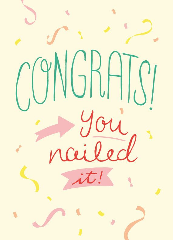 You Nailed It! - Congratulations Card hand-lettered