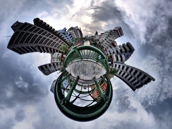 Stereographic images of Tokyo