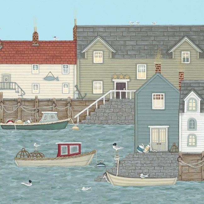 Sally Swannell. Quayside greetings card