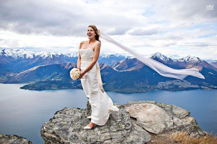Bride on The Ledge, Cecil Peak, Queenstown