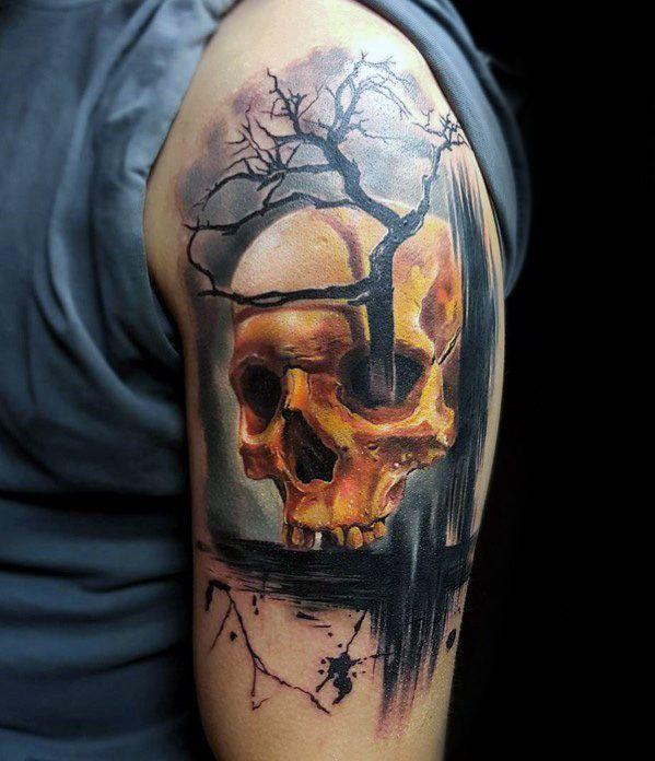 crneo rbol de diseos de tatuajes para hombres