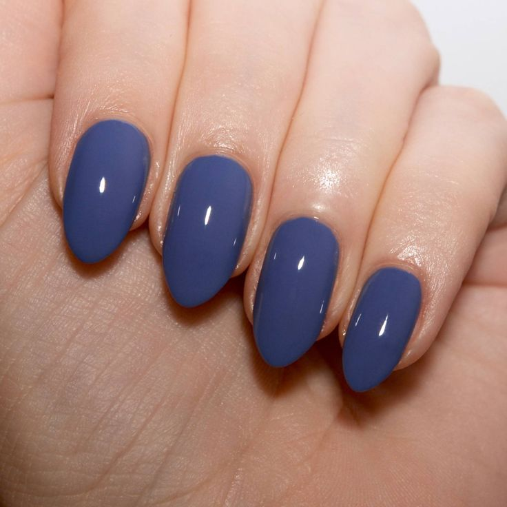 Morgan Taylor 'Flirt In A Skating Skirt' - a pretty muted grey-blue creme polish.