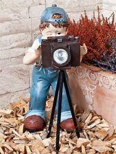 Gartenfigur Fotograf inkl. Solarleuchte Dekofigur LED Gartendeko Deko Figur #gartenfigur #gartendeko #dekofigur #solarleuchte #fotograf #LED