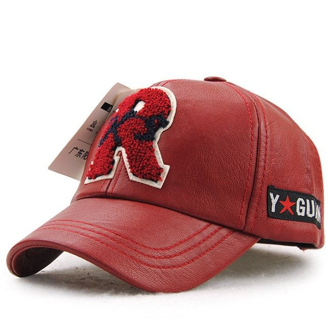 Kids Boys Girls Leather Letter Embroidery Baseball Hat Outdoor Sports Sunshade Cap - NewChic