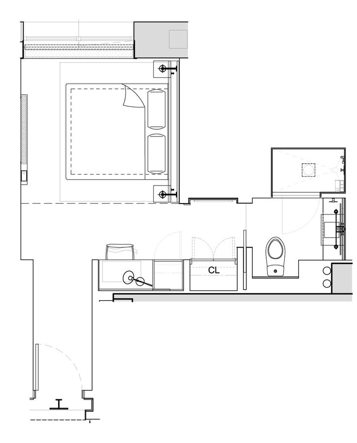 1 Hotels Central Park Alcove King Floor Plan