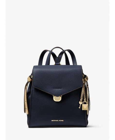 49945300cd0f Michael Kors Bristol Small Leather Backpack Admiral | MK2 ...