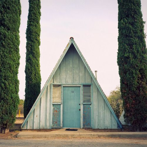 triangle blue house