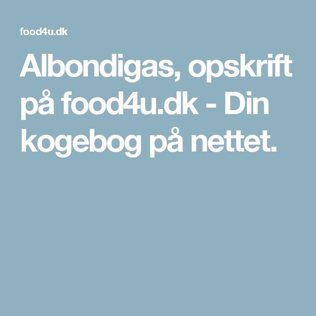 Albondigas Opskrift albondigas, opskrift på food4u.dk - din kogebog på nettet. | mad