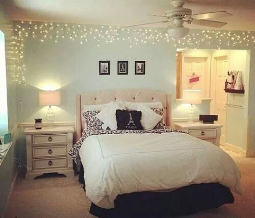 Pretty Bedroom Ideas best 25+ christmas lights bedroom ideas on pinterest | christmas