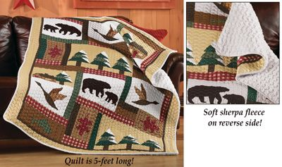 Northwoods Nature Patchwork Quilt