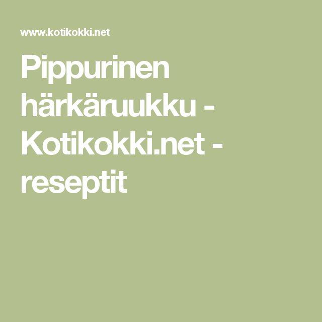 Pippurinen härkäruukku - Kotikokki.net - reseptit