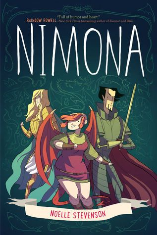 Title:Nimona Author:Noelle Stevenson Genre:Graphic Novel Fantasy How I got the book:Iborrowed it from my sister Summary(from Goodreads): Nimona is an impulsive y…