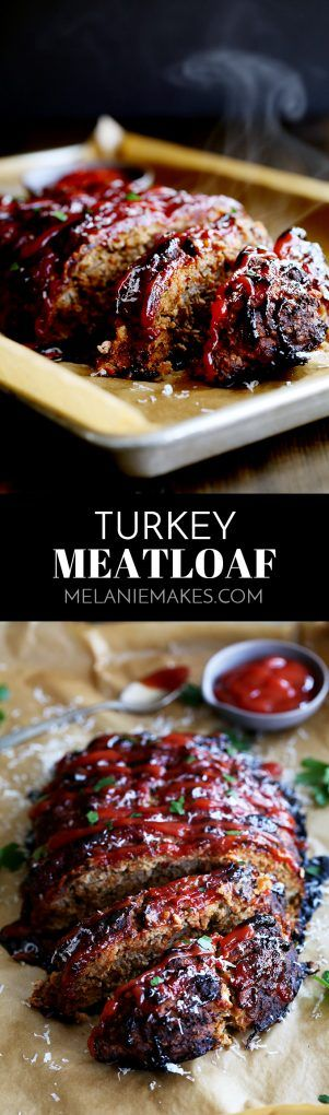 This Turkey Meatloaf takes just 10 minutes to prepare, yet will have you coming back for seconds (or thirds). This beef alternative meatloaf is anything but bland thanks to being seasoned with Parmesan cheese, oregano, basil and garlic. #turkey #meatloaf #comfortfood #sundaydinner