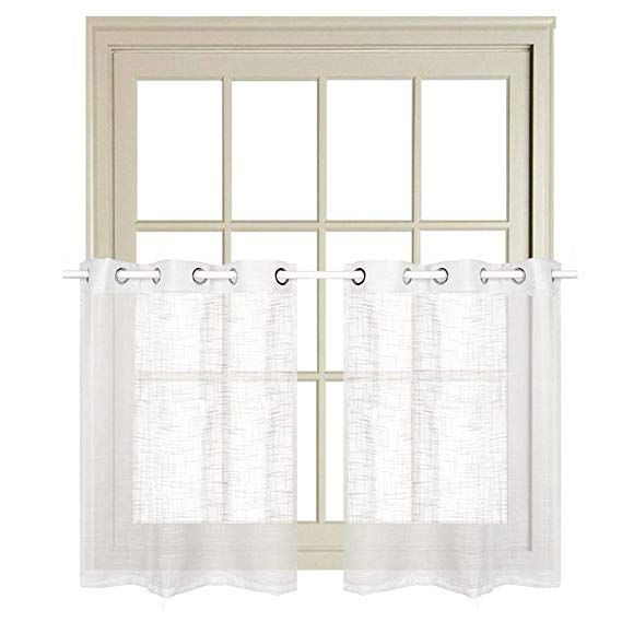 Amazon Com Rayzon White Sheer Curtains For Kitchen Tier Curtains