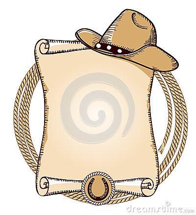 Chapéu de cowboy e Lasso Ilustração do americano do vetor