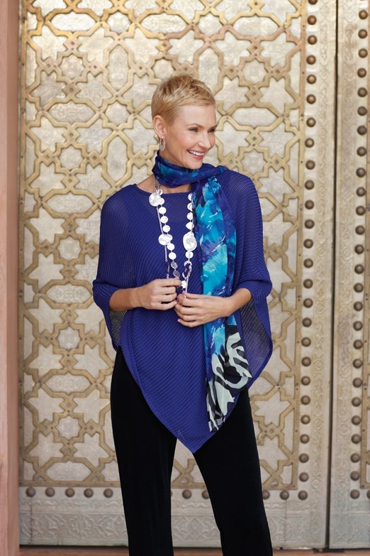 Create Instant Drama in the Travelers Collection Poncho #chicos