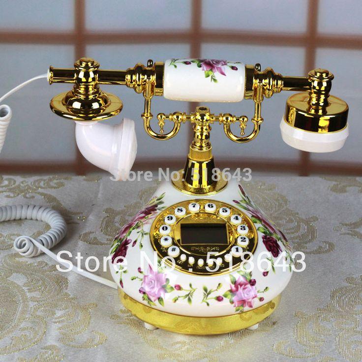 Free shipping ceramic telephone rural antique telephone European phone restoring ancient ways #Affiliate