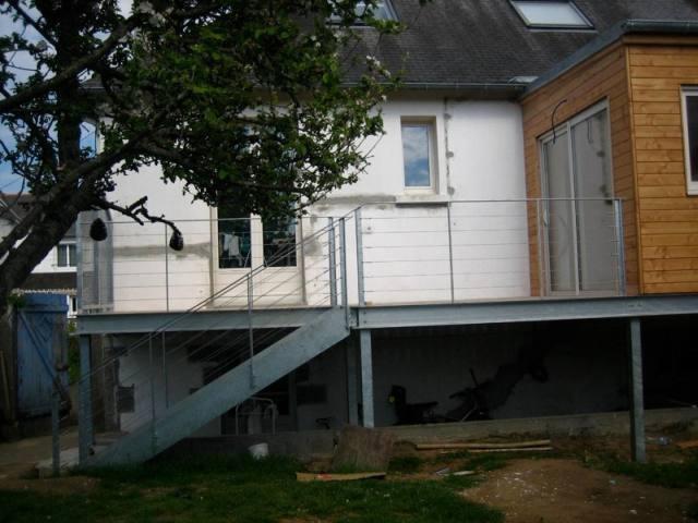 15 best escalier exterieur images on pinterest decks stairways and balconies. Black Bedroom Furniture Sets. Home Design Ideas