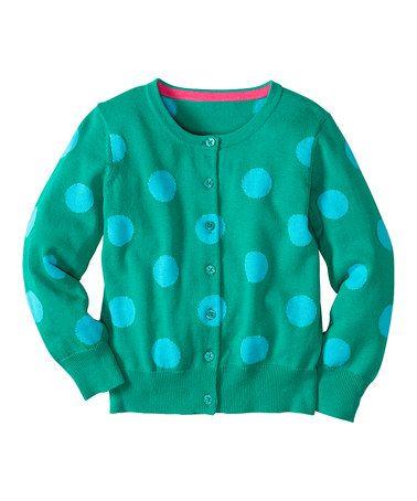 Another great find on #zulily! Rainforest Polka Dot Cardigan - Infant, Toddler  Girls #zulilyfinds