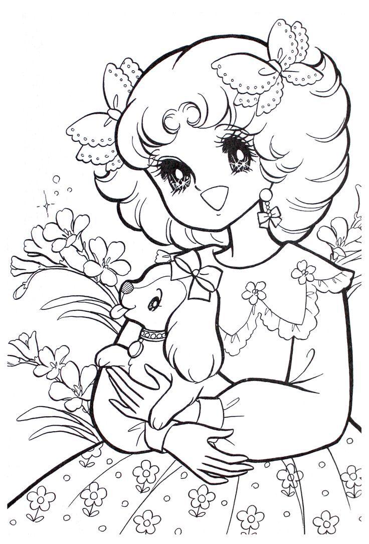 Coloring pages vintage - Vintage Shojo Coloring Book P5 Nurie Kawaii Coloring Pinterest