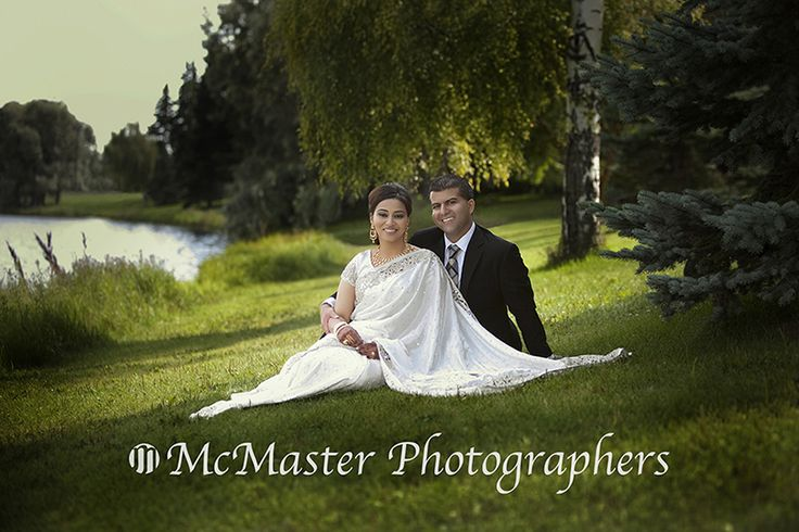 This East Indian wedding formal photos were done at Hawrelak Park here in Edmonton.  The pose is one of the more traditional styles but with the setting it works.  #wedding #yegwedding #weddingphotography #weddingphoto #weddingphotographers