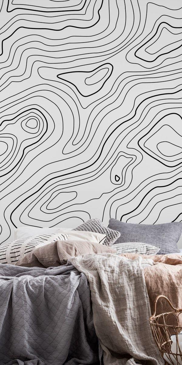 Intention Wallpaper Modern Mural Monochromatic Art Mural Wall Art