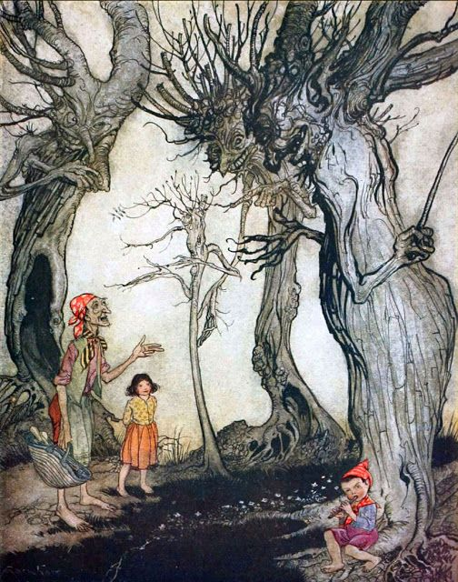 The Trees and the Axe : Aesop's Fables translated  by V.S. Vernon Jones and illustrated by Arthur Rackham. 1912