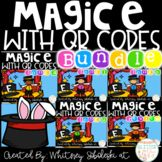 Magic E with QR Codes Bundle. Keywords: phonics, magic e , silent e, sneaky e, QR Codes, decoding, long vowels, literacy centers, first grade