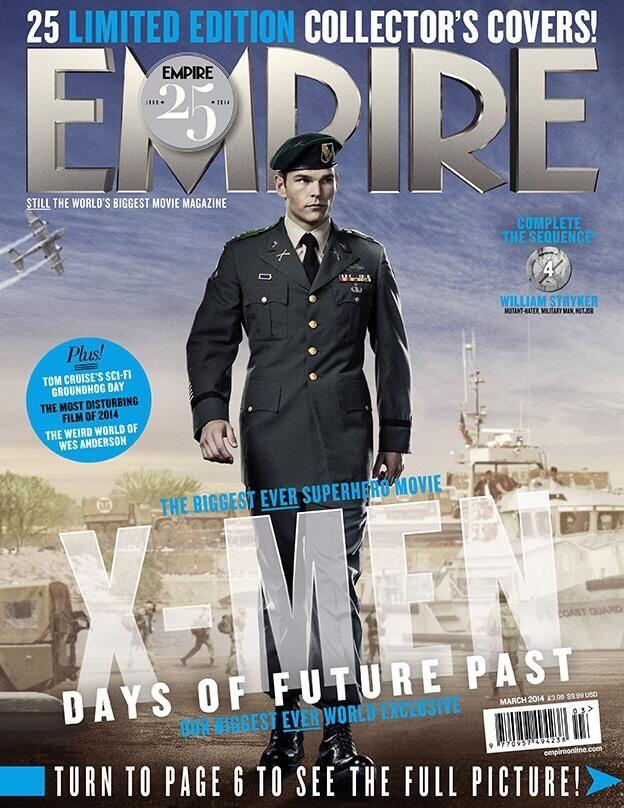 25 'X-Men: Days of Future Past' Empire Magazine Covers -- Josh Helman as William Stryker