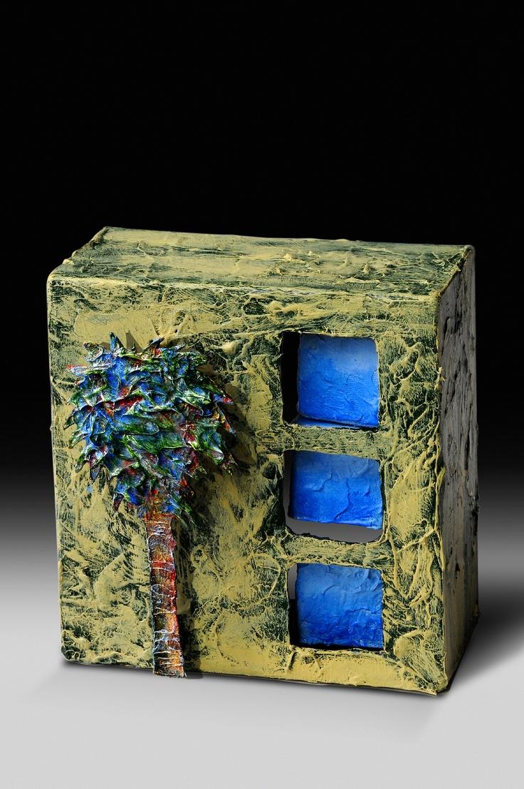 "Hot Metal Mama Wall sculptures  ""Blue Palm""  hotmetalmama.com"