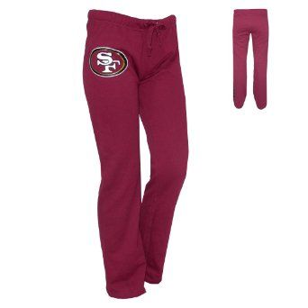 WOMENS Pink Victoria's Secret NFL San Francisco 49ers Pajama Pants-- Mmmmk, first of all whaaaaaaatttt??!! AWESOME! Second, those'd need to be rolled down around the waist or something because those go waaaay too high, lol.