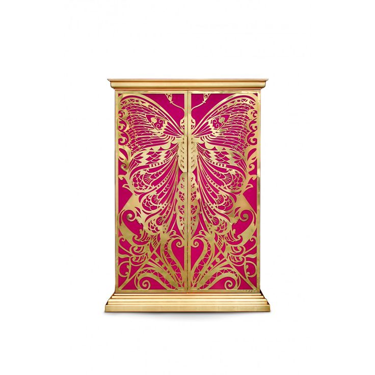 Lovely Koket   Mademoiselle Armoire Polished Brass Over Silk Lining. Design