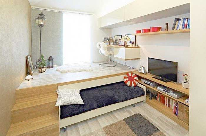 35 Ways To Space Optimize A Studio Apartment On A Budget Bed