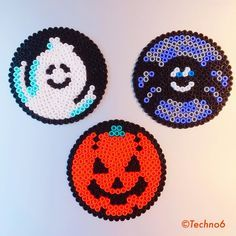 Halloween ornaments perler beads by techno6