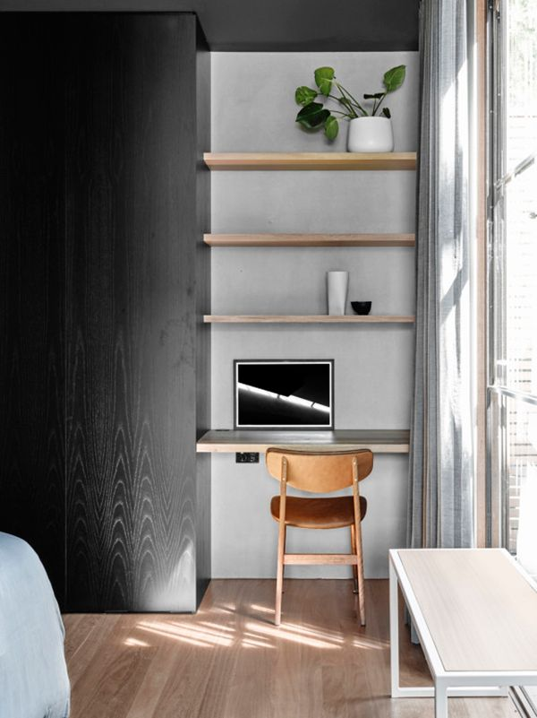 Minimalist Small Workspace | Burnley house by Rob Kennon architects