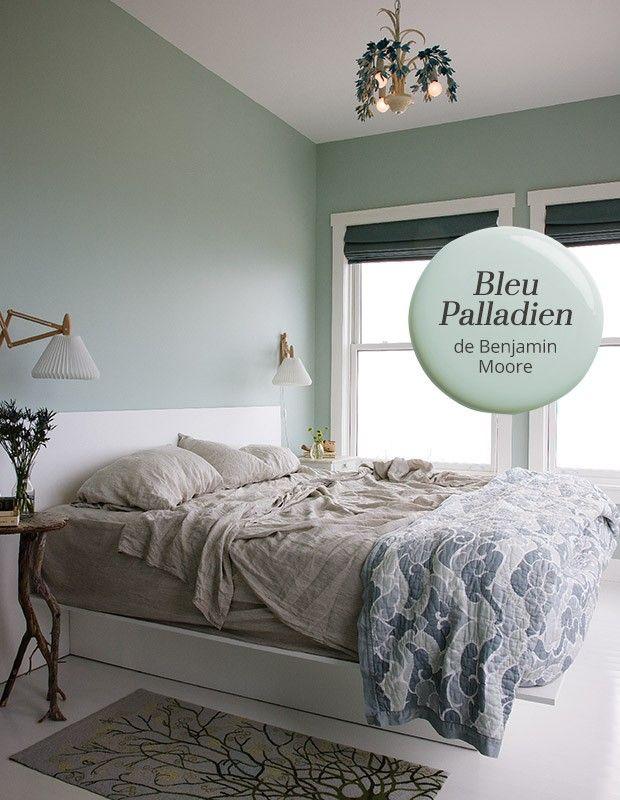 Couleur de peinture bleu palladien de benjamin moore