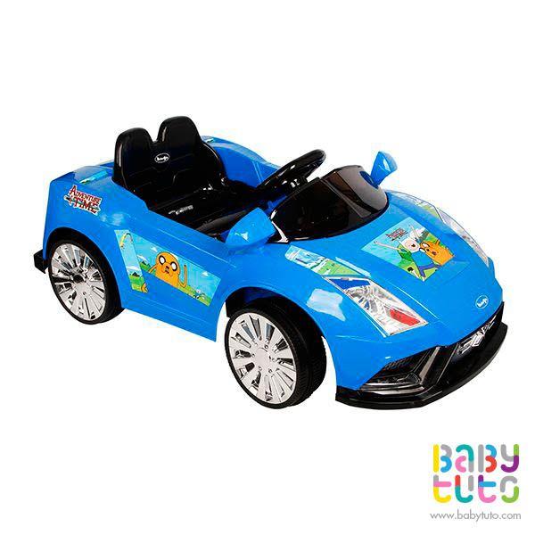 Auto a batería Lamborghini hora de aventuras color azul, $169.990 (precio normal). Marca Bebegló: http://bbt.to/1yVtpNF